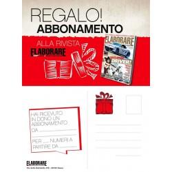 Abbonamento annuale Elaborare 11 numeri e Cartolina REGALO