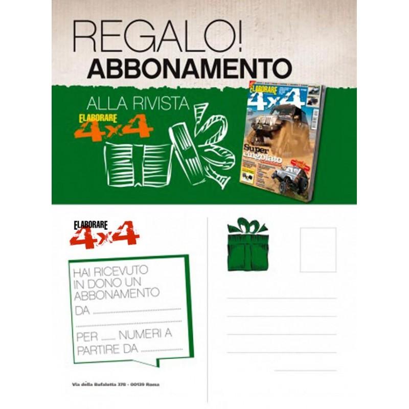 Abbonamento annuale Elaborare 4x4 6 numeri e Cartolina REGALO