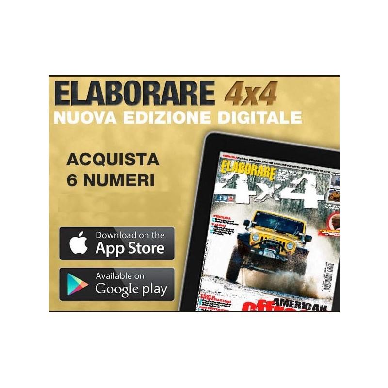 Abbonamento DIGITALE x TABLET Elaborare 4x4 6 numeri e Cartolina REGALO