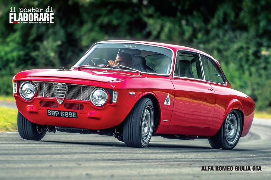 """Elaborare n.247 di  marzo 2019 nella rubrica """"Top Car Auto"""" è stata pubblicata la bellissima Alfa Romeo Alfaholics GTA-R 290 con tanto di POSTER!"""