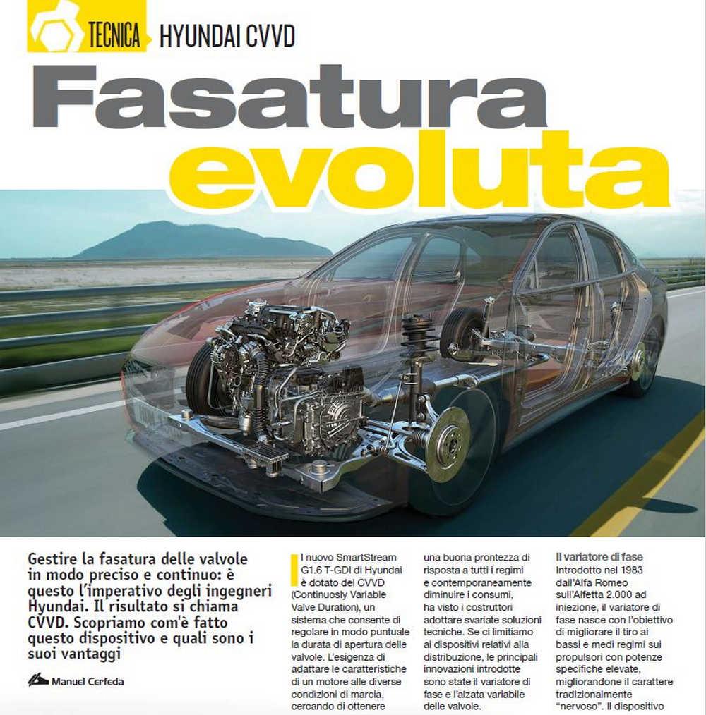 Tecnica tecnologia CVVD Hyundai  fasatura variabile distribuzione motore evoluta