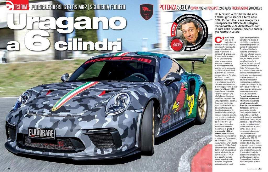 Porsche 991 GT3 RS Scuderia Forieri Elaborare 259