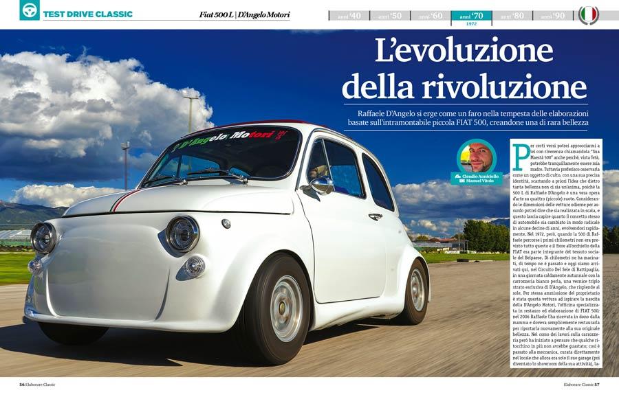 Fiat 500 storica preparazione