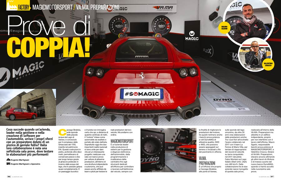 Banco prova potenza a rully dyno Race Vama Magic Motorsport