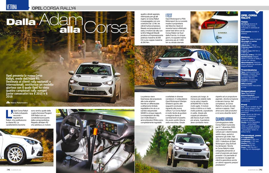 Opel Corsa da Rally4