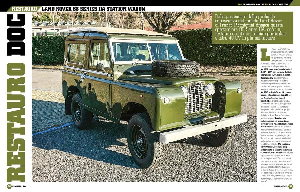 Land Rover restauro