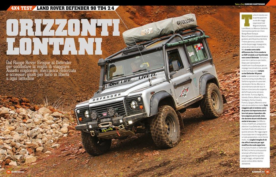 Land Rover Defender preparazione offraod