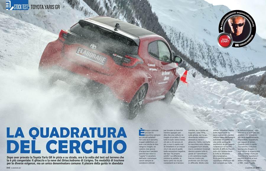 Toyota Yaris GR neve snow