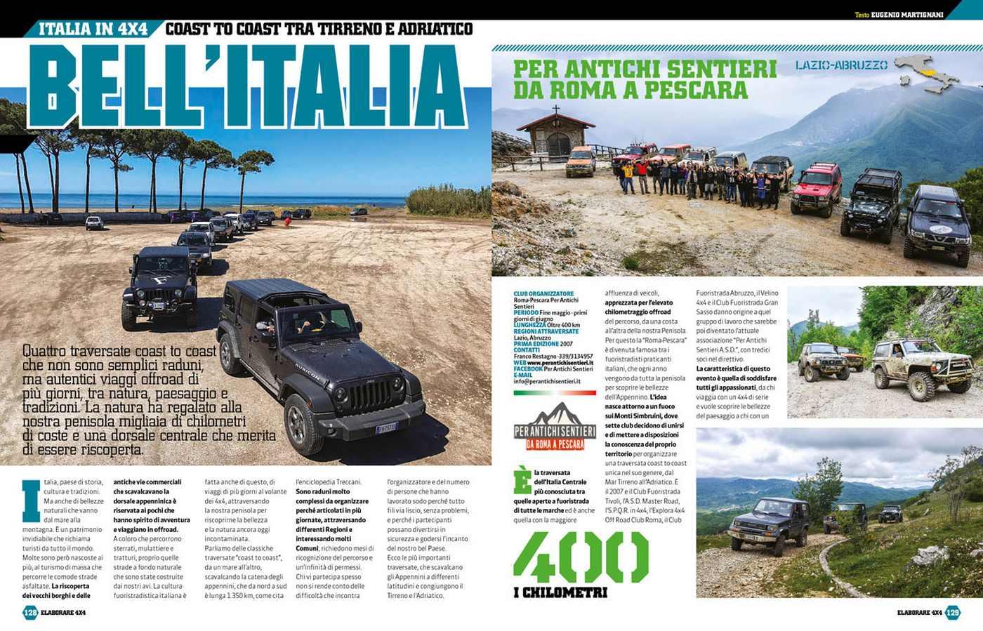Viaggi fuoristrada in Italia percorsi Tirreno Adriatico